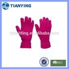 women's red polar fleece gloves