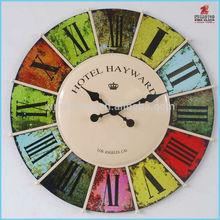 2015 Large Round Metal Wall Clock Decorative Vintage Wall Clock.