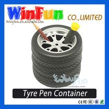 Tyre Brush Pot Unique Design Desk Pen Holder Novelty Items