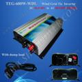 Dc à ac 220v 10.8v-28v aérogénérateurs sur onduleur réseau cravate 600w