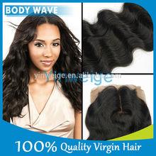 No chemical healthy hair wholesale virgin brazilian body wave silk base human hair closure piece