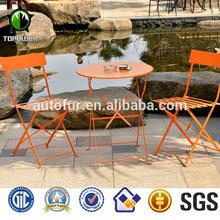 Popular style metal folding round bistro set/cafe/patio/garden sets