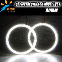 Error free long life span led angel eyes car head lights 80MM 3014SMD LED angel eyes for car head lamp daytime running light