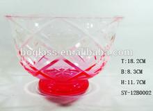 Art Glass Vases, Pink Glass Vases, Big Glass Bowl For Home Deco
