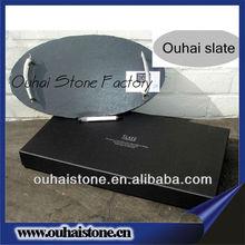 Black oval slate attractive design food tray