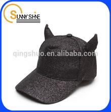 Sunny Shine the shape of black calf baseball caps and hats