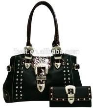 2014 new design western rhinestones trendy ladies handbags