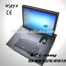 Computer School/Training Rooms Desk Mount Electric Monitor Motor Driven Retractable Flip LCD17(4:3)