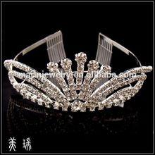 Bridal Wedding Crystal Stone Veil Tiara Crown Hair Headband HG0897