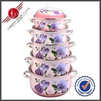 China Wholesale Purple Korea Induction Enamel Cookware