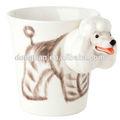 creativo personalizado divertido perro en relieve taza con precios más bajos para el regalo
