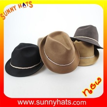 Fashion 100% wool felt western children hat
