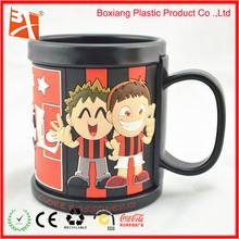 funny football boy image pvc mug
