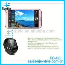 Alibaba 2014 New Waterproof Digital dual sim wrist watch mobile phone for iPhone android smartphone