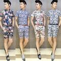 vendita calda in stile hawaiano camicia funky camicia da uomo e pantaloni