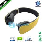 Shenzhen touch screen bluetooth aptx 3.5mm headphones with wireless sensitive microphone