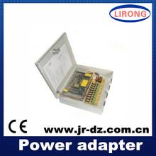 AC85-265V to DC 12V 20A 240W 9ch output cctv power adapter