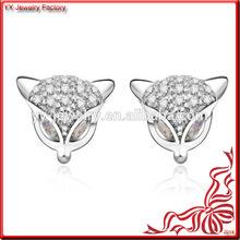 Fashion Design Cute Fox racing Stud Earring