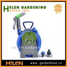 2014 High quality hose reel used car wash hose reel with water spray gun flexible stretch hose reel