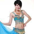 Nova moda quente bonito elegent roupa de dança do ventre, sexy lantejoulas borlas frisado sutiã dança do ventre( sz008)
