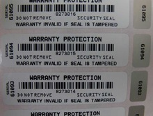 Security sticker serial number zx1s