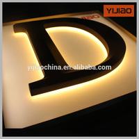 backlight led sign 3D illuminate acrylic sign with car paint