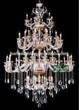 4-tie modern big crystal chandelier gold 1360-8+24+18+6