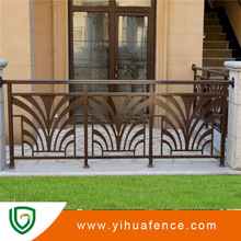 fashionable designs for steel fence on courtyard wall