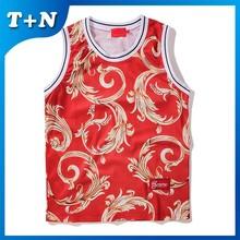 2014 best design camouflage custom sublimation basketball jersey