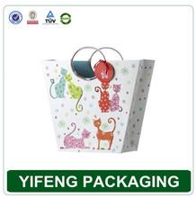 Guangzhou factory promotional foldable cheap shopping bags, luxury paper shopping bag