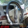 venta caliente bordado de dirección cubierta de la rueda de auto accesorios interiores