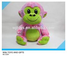 multicolored stuffed monkey with plastic eyes plush wild animal