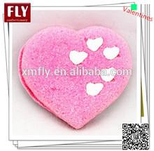 san valentino a forma di cuore rosa marshmallow torta