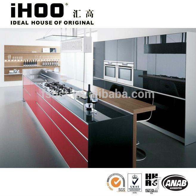 ... : Hoogglans laminaat keukenkast prijs met ingebouwde in de magnetron