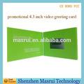 """الطباعة حسب الطلب 4.3"""" 1 2 3 فيديو شاشة lcd بطاقات المعايدة الحرة"""