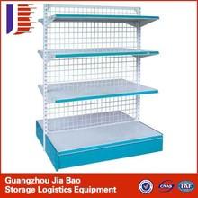 Supermarket 50mm Pitch System Store Metal Gondola Storage Shelf