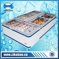 combinado de profundidad del congelador del refrigerador para helados y de alimentos del mar