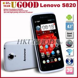 Original Lenovo S820 MTK6589 Android Phone 4.7 inch IPS 1280x720 Quad Core 1.2 GHz 13.0MP Camera Dual SIM Bluetooth GPS