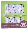 """Musselina swaddle fralda envoltório para baby 100% algodão 47x47"""" após a lavagem"""