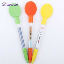 Plastic and and promotional cartoon pen with a spoon