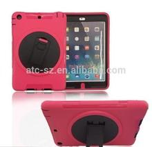 Newest Hybrid TPE shockproof weatherproof full protection case kickstand holder for iPad mini Children iPad case