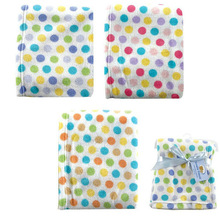 Luvable Friends Dot Print Coral Fleece Baby Blanket bedding for babies