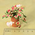 1/12scale fada do jardim em miniatura de barro dollhouse plantas de flores em vasos de barro