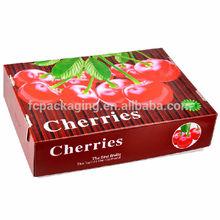 High Quality Recycled Waterproof Cherries Fruit Packaging Box