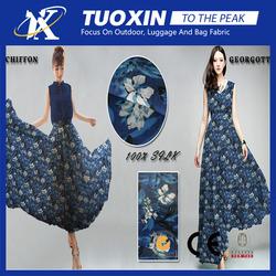 Fashion Chiffon Georgette fabrics/beach silk fabric/ designer chiffon kurti