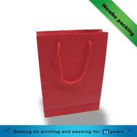Red luxury handmade paper shopping gift bags
