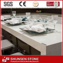 Best Price Elegant Family Dining Table/Island Top Artificial Quartz Stone Slab