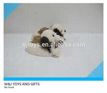 plush dog indoor sliper in animal shaped