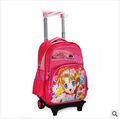 2014 Trolley mochila escolar bolsas para adolescentes menina
