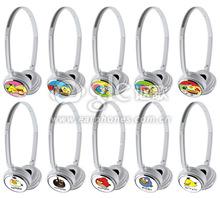 Custom stylish cartoon headband style anime headphone, hot cheap headphone factory